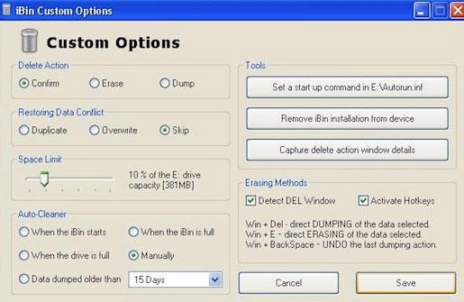 Blasius Info - IT Szótár/Pendrive/A szemetes számos jellemzőjét beállíthatjuk. - pendrive - Wifi - honlap - weblap - weboldal - banner - html - készítés - szerkesztés - oldalak