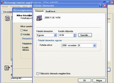 Blasius Info - IT Szótár/XP/Időzített biztonsági mentés a Windows XP-ben. - szerkesztés - pendrive - honlap - Wifi - weblap - készítés - html - banner - weboldal - oldalak
